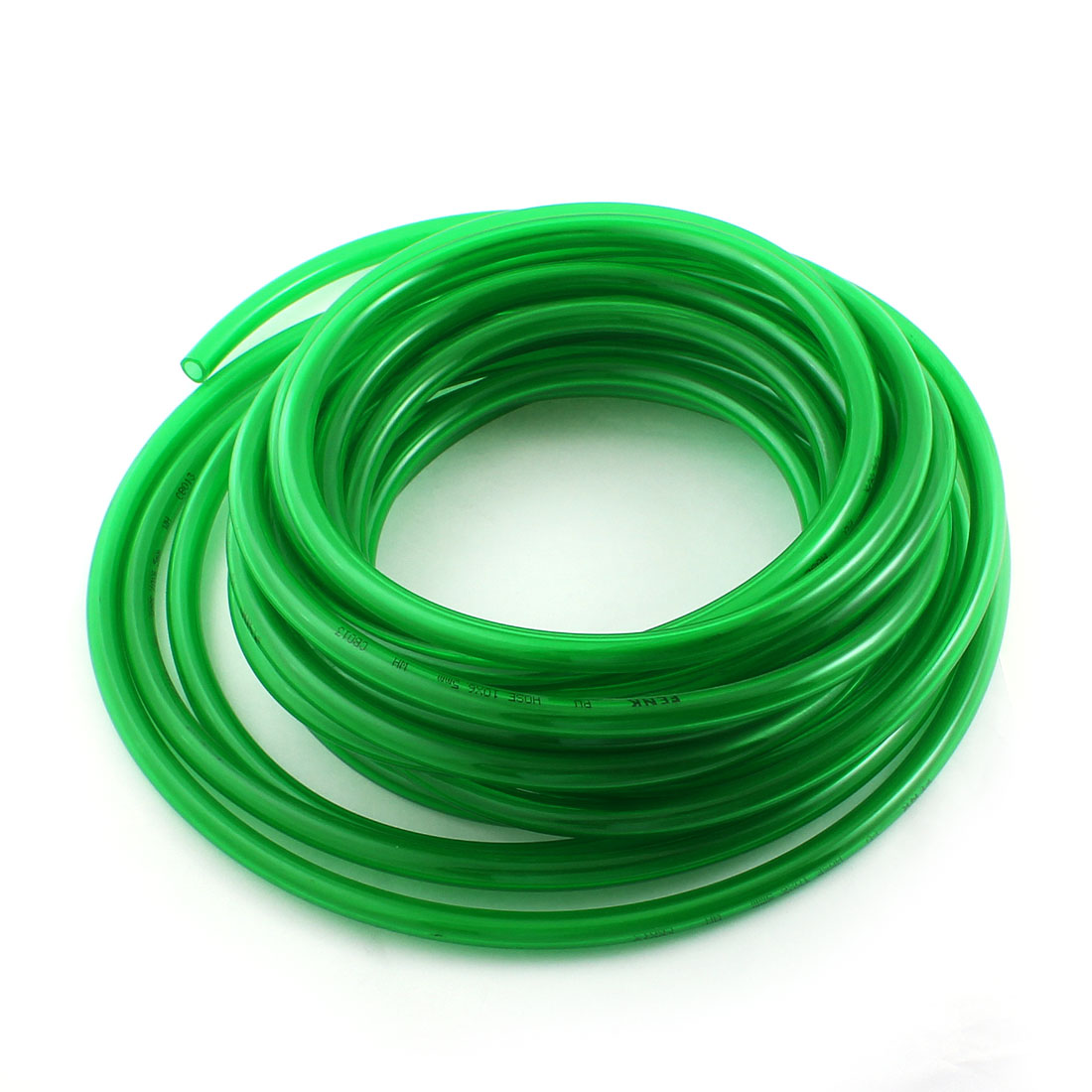 10mmx6.5mm Clear Green PU Hose Tube Air Pneumatic Quick Fitting 10m Length