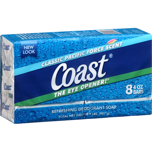 Coast Classic Pacific Force Scent Refreshing Deodorant Soap, 4 oz, 8 count