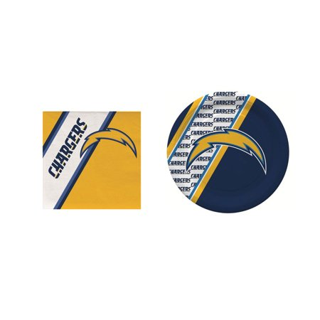 Paper Chargers For Plates (San Diego Chargers 20 Pc Disposable Paper Plates And 20 Pc Disposable)