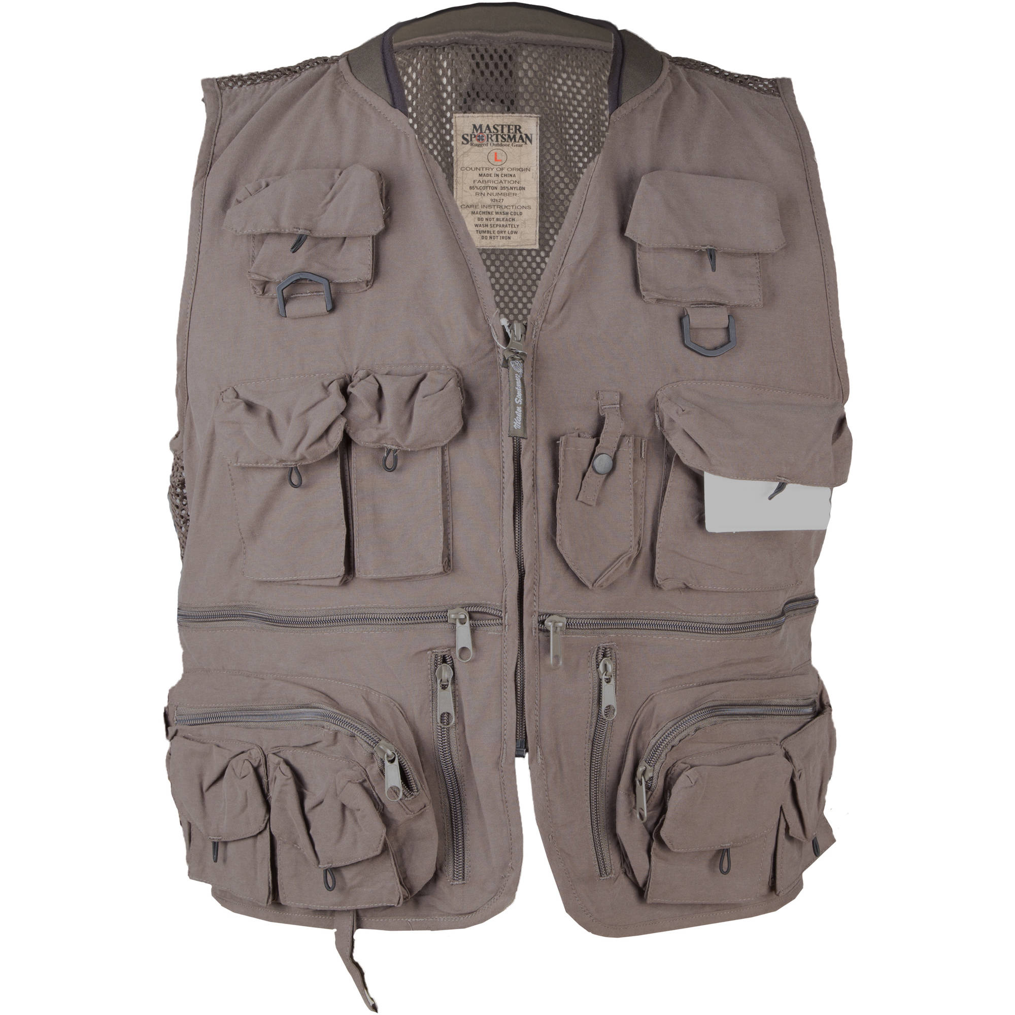 Master Sportsman Alpine 27-Pocket Mesh-Back Fishing Vest, Olive, XL by EXXEL OUTDOORS, LLC