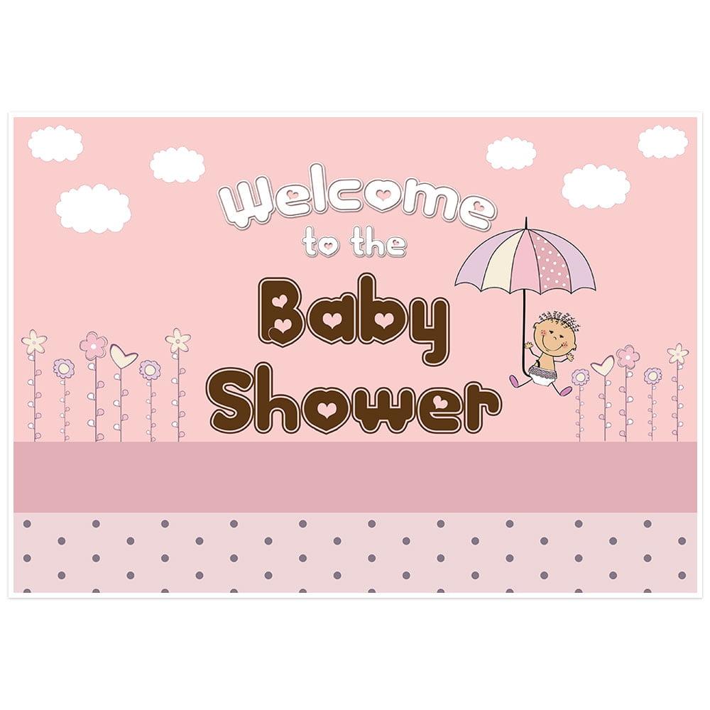 Umbrella Girl Baby Shower Banner