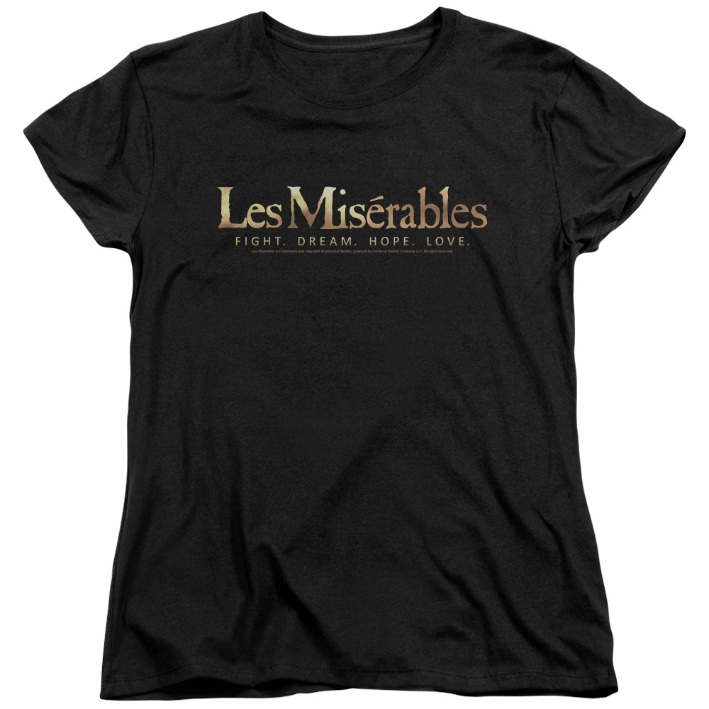 Les Miserables Logo Womens Short Sleeve Shirt