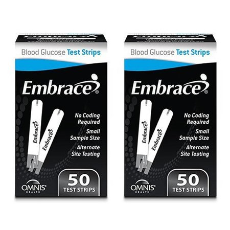 Omnis Health Embrace Blood Glucose Test Strips 100ct Audible English/Spanish ()