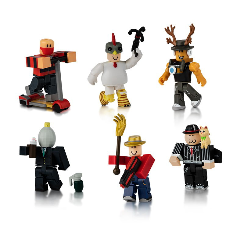 Builderman Roblox Figure Roblox Action Collection Masters Of Roblox Six Figure Pack Includes Exclusive Virtual Item Walmart Com Walmart Com