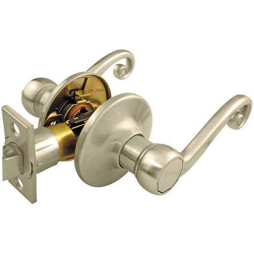 Ultra 44587 Satin Nickel Hall and Closet Passage Lever