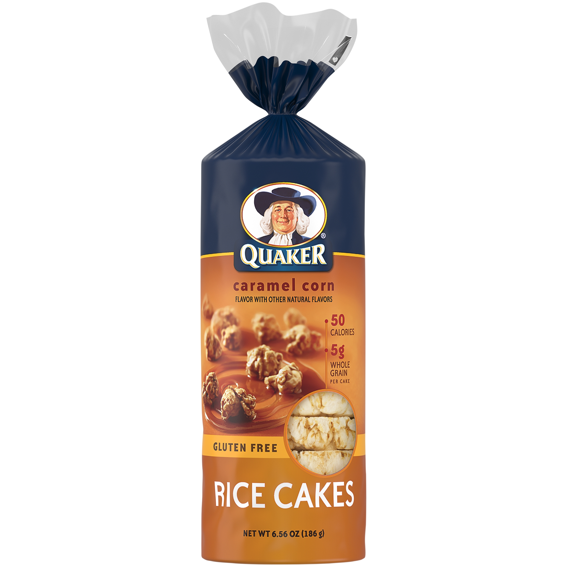 Quaker® Caramel Corn Rice Cakes, 6.56 oz. Bag - Walmart.com