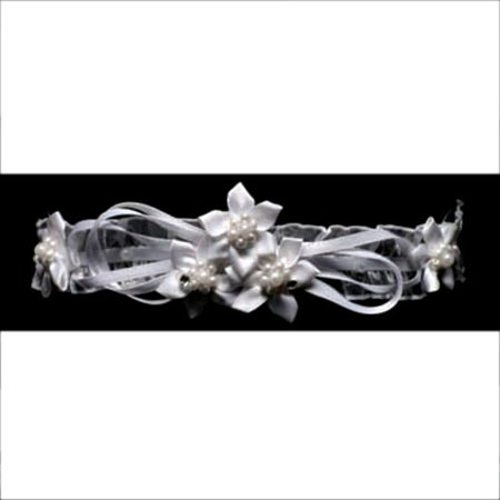 Angels Garment Girl White Flower Pearl Headband Baptism Communion - Baptism Accessories