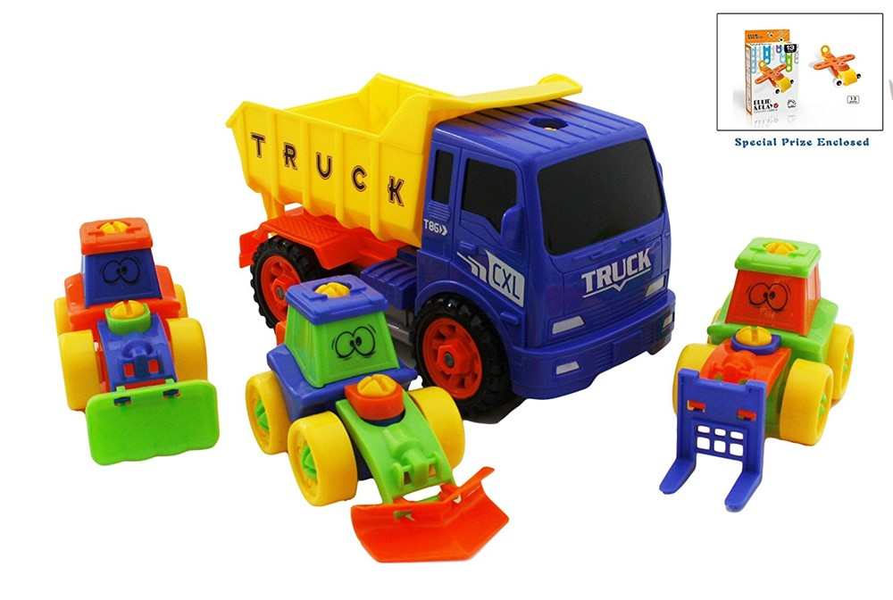 Bezrat Take-A-Part Building Multifunctional Kids Tractor Construction Dump Truck With 3... by