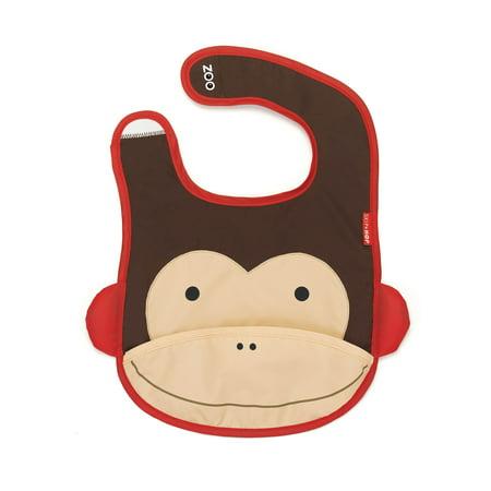Skip Hop Zoo Tuck-Away Bib, Monkey
