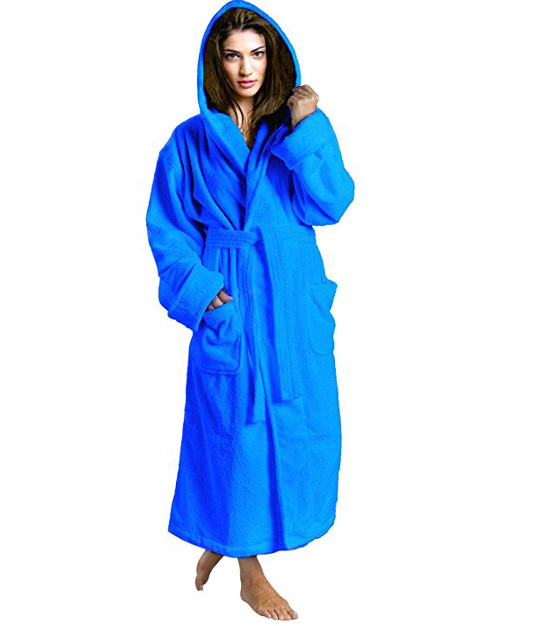 Skylinewears - Women s Toweling Robe 100% Terry Cotton Hooded Bathrobe -  Walmart.com 8fe2a5e97