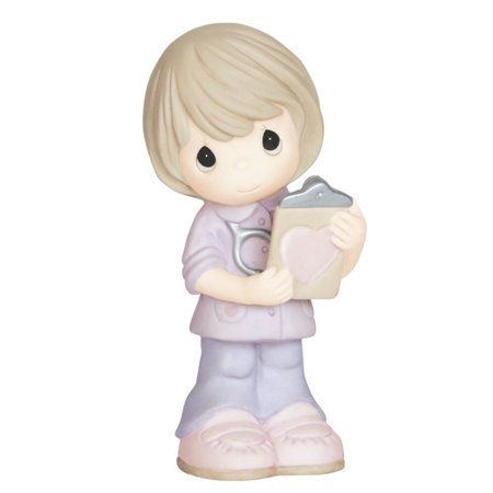 Precious Moments, Heart Of Gold, Bisque Porcelain Figurine, 143030