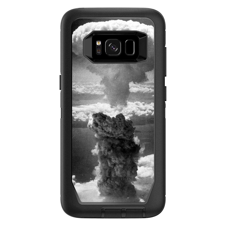 "DistinctInk™ Custom Black OtterBox Defender Series Case for Samsung Galaxy S8 (5.8"" Screen) - Nuclear Mushroom Cloud"