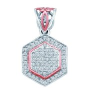 Gold and Diamonds PF3257-W 0.20CT-DIA MICRO-PAVE PENDANT- Size 7