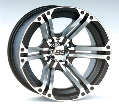 ITP SS212 Aluminum Wheel Front 14x6 Machined W/Black Fits 2012 Arctic Cat Wildcat 1000