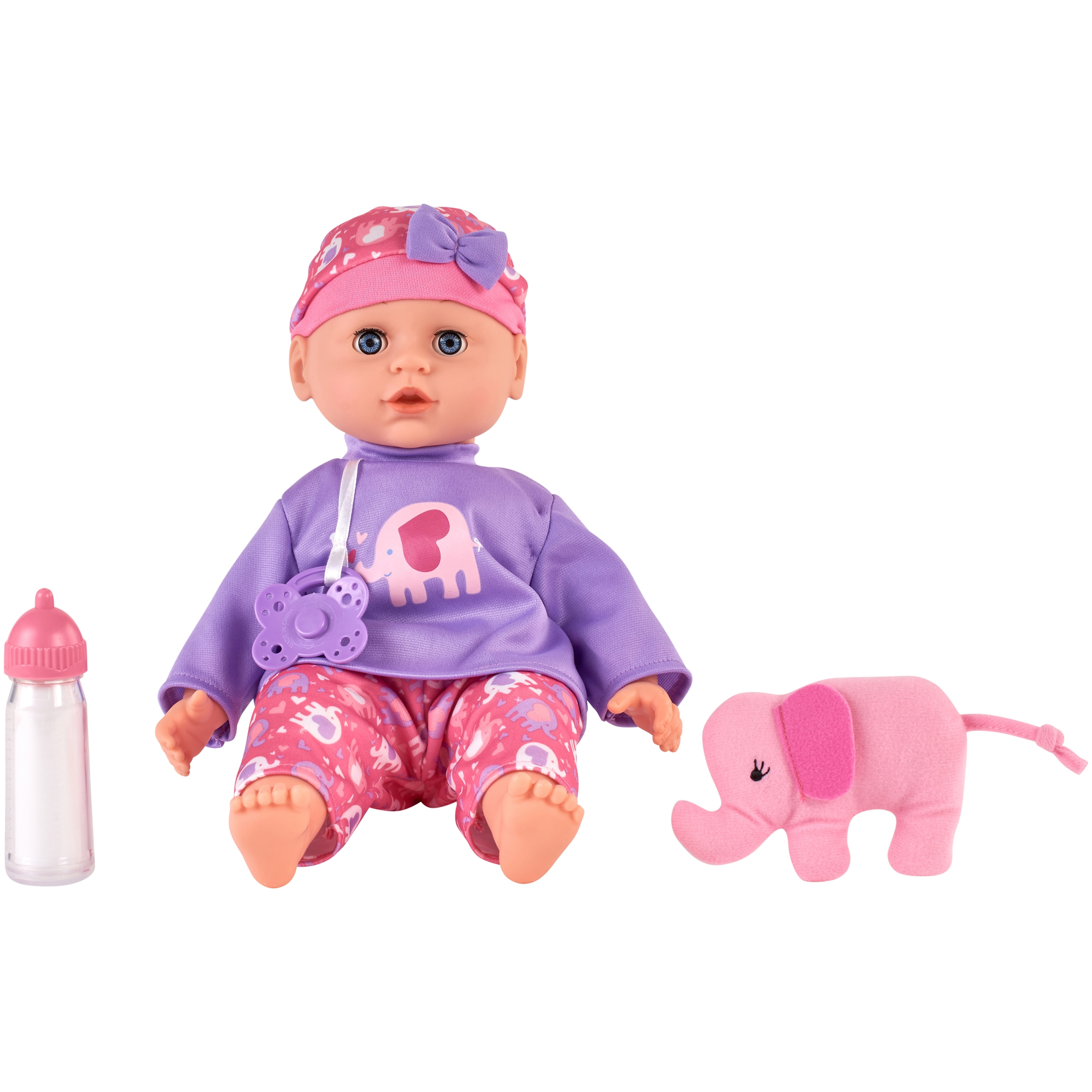 My Sweet Love Elephant Baby Maggie Doll, Pink, Designed for Ages 2 and Up