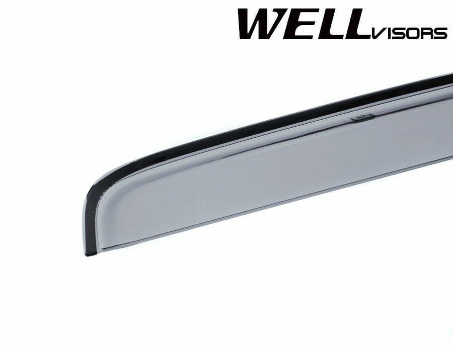 WellVisors For 09-15 Honda Pilot Premium Series Side Window Visors Rain Guards