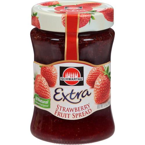 ***Discontinued***Schwartau Extra Strawberry Fruit Spread, 12 oz, (Pack of 10)