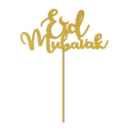 Fancyleo Cake Toppers Eid Mubarak Wedding Ramadan Birthday Party Decoration Muslim Cupcake Topper Baking (Bow Cupcake Decorations)