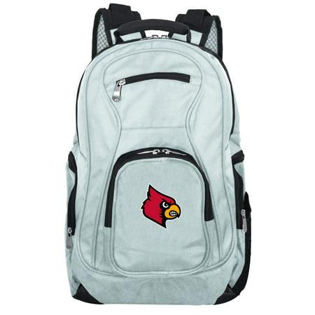NCAA Louisville Cardinals Gray Premium Laptop Backpack