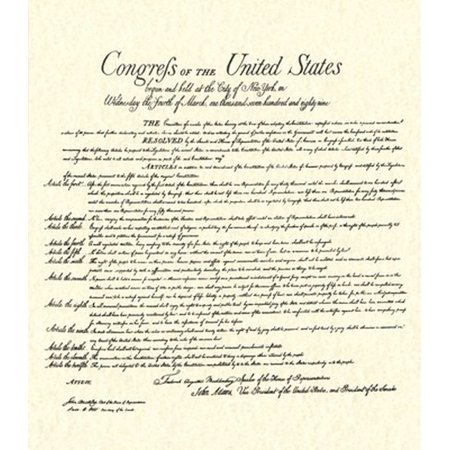 Bill of Rights (Document) Rolled Canvas Art -  (14 x 16) (Rolled Document)