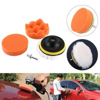 YLSHRF 5Pcs 4  Polishing Buffing Pad Kit Tool For Car Polisher Buffer With M10 Drill Adapter, Polisher Buffer Pads, Polishing Buffing Pad Kit