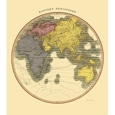 Old Eastern Hemisphere Map - Thomson 1814 - 23 x 26.05 - Walmart.com