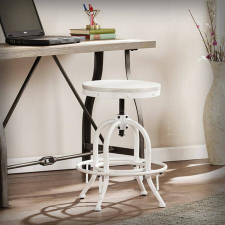 Enterprise Swivel Chair (Southern Enterprises Wagner Industrial Adjustable Height Swiveling Stool, White)
