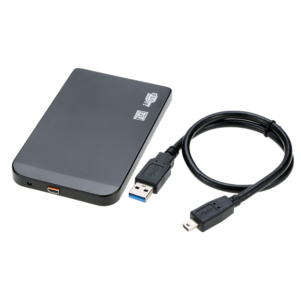 "Slim Super Speed 6Gbps Aluminum 2TB 2.5"" SATA SSD HDD Hard Disk Drive Box USB 3.0 External Enclosure Case Caddy + USB Cable"