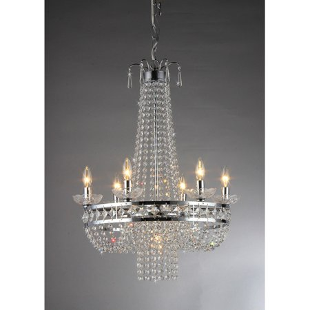 Crystal Chrome Finish Pendant Lamp