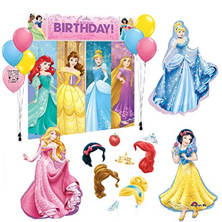 Disney Princess Party Supplies Photo Booth Prop Kit Balloon