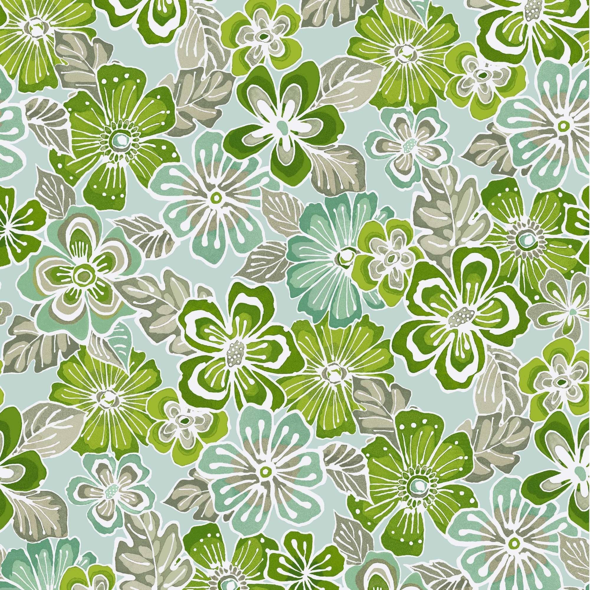 Waverly Inspirations POP Flower Lime 100% Cotton Duck Fabric 45'' Wide, 180 Gsm, Quilt Crafts Cut By The Yard
