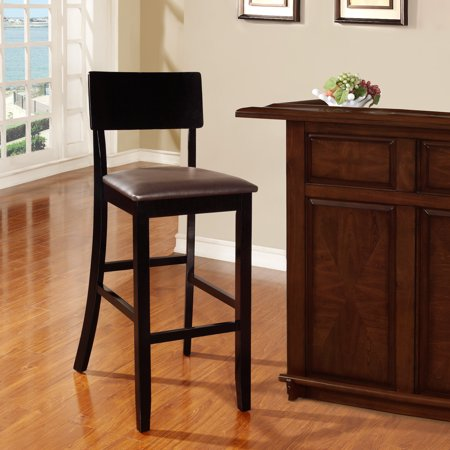 Torino Contemporary 29u0022 Barstool Hardwood/Black - Linon