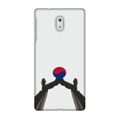 Nokia 3 Case, Ultra Slim Designer Snap On Hard Shell Case Back Cover with Screen Cleaning Kit for Nokia 3 - Unification Arch- South Korea Flag ()