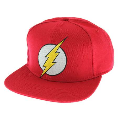 DC Comics The Flash Licensed Embroidered Logo Snapback Cap Hat - Flash Hat