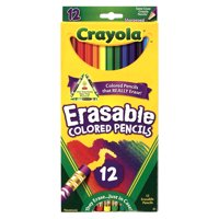 Crayola Erasable Colored Pencil Set, 12-Colors