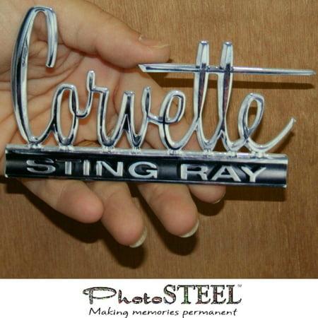 "C2 Corvette Metal Magnet Emblem Art Size: 4"" x 2.25"""