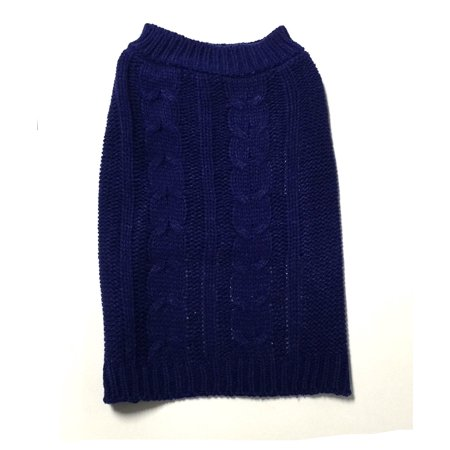 XX-Large Navy Cable Knit Dog Sweater by Midlee