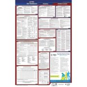 JJ KELLER 400-PA Labor Law Poster,Fed/STA,PA,SP,40Wx26inH