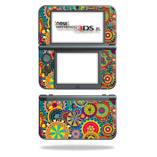 MightySkins Protective Vinyl Skin Decal for New Nintendo 3DS XL (2015) Case wrap cover sticker skins Flower Wheels