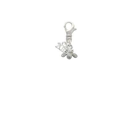 Silvertone Mini Bee - 2019 Clip on Charm](Bee Charms)