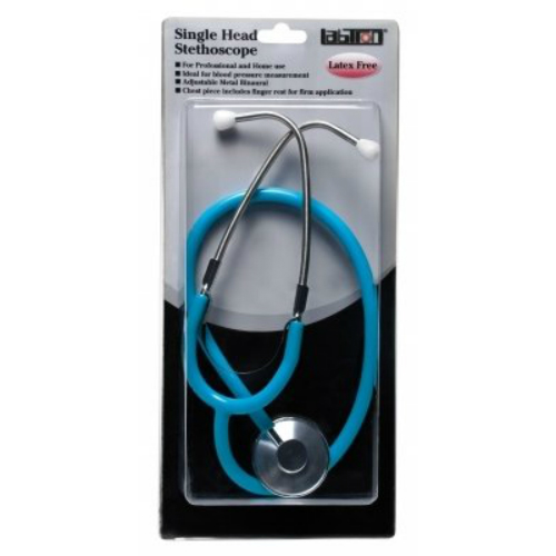 Labtron Single Head Stethoscope Blister Pack - Green Stethoscope