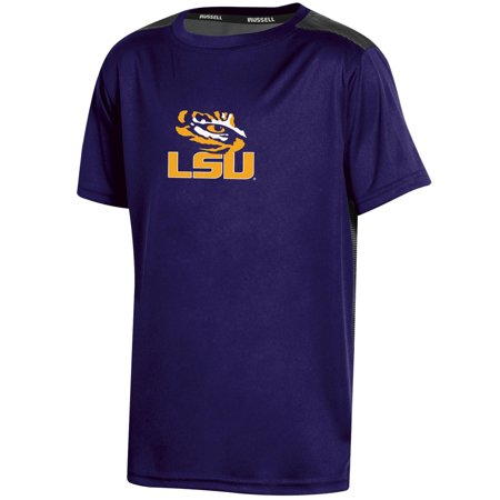 Youth Russell Purple LSU Tigers Color Block T-Shirt ()