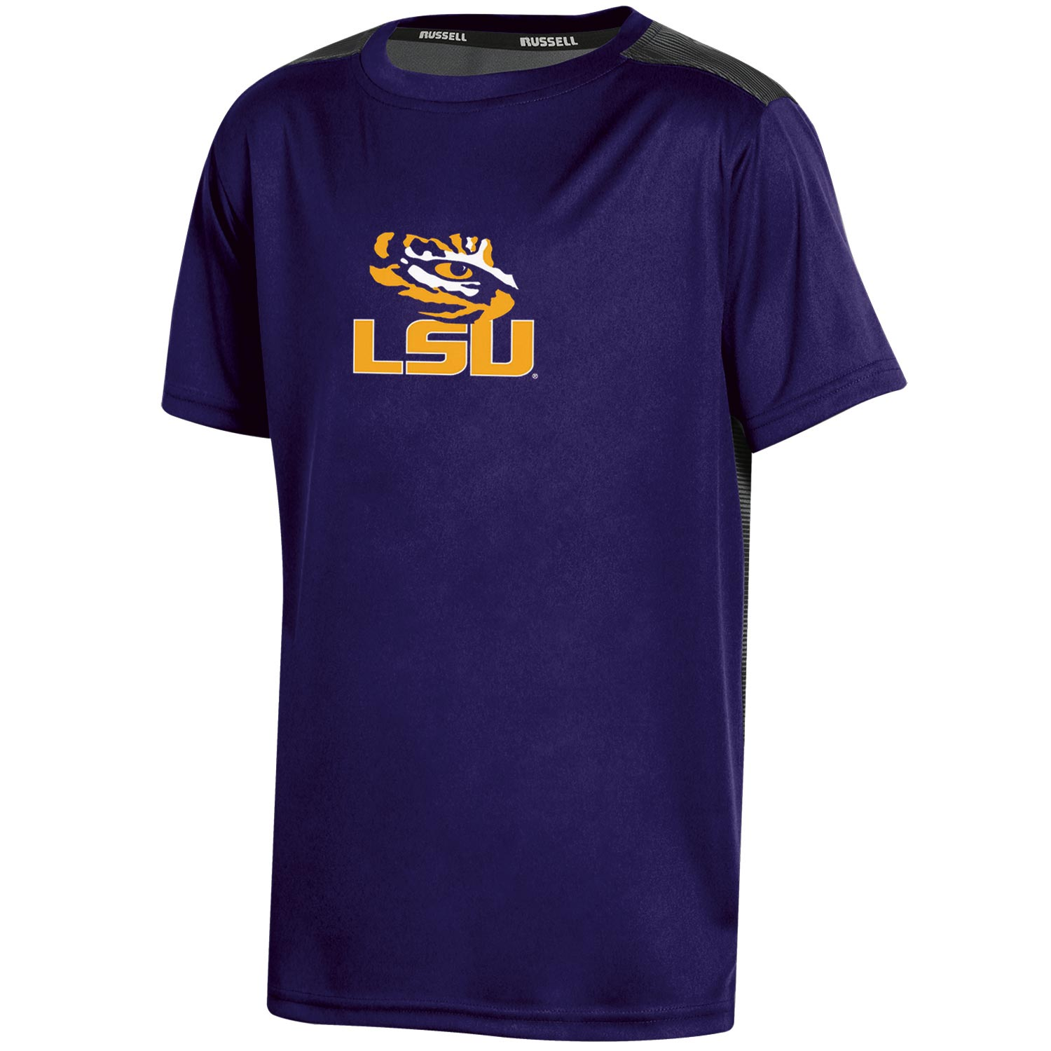 Youth Russell Purple LSU Tigers Color Block T-Shirt