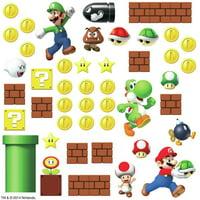 SUPER MARIO Bricks Coins Wall Decals 45 NEW Stickers Luigi Nintendo Room Decor