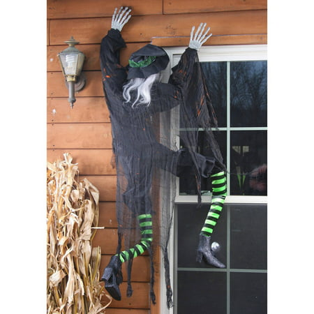 Climbing Witch Halloween Decor (Dancing Halloween Witches)