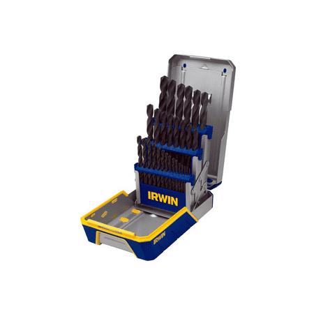 Irwin Metal (IRWIN Tools 3018004 29-Piece Black Oxide Metal Index Drill Bit Set, Pro Case)