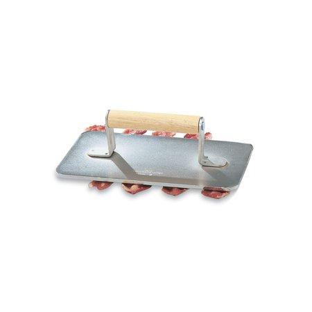 Vollrath 47709 Cast Aluminum Steak Weight with Wooden Handle Cast Aluminum Steak Weight