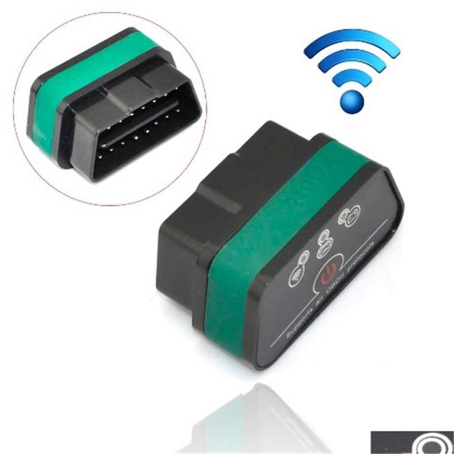 IKKEGOL 10308BG Vgate iCar 2 Mini OBD2 OBD II WiFi Car Diagnostic Scan Tool, Black & Green