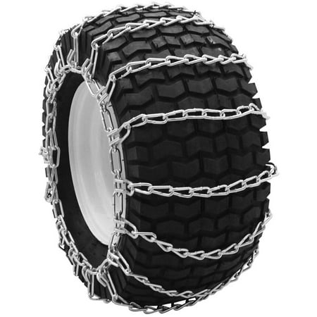 Snowblower and Lawn Tractor Tire Chains, 23X9.50X12, 2 Link Spacing