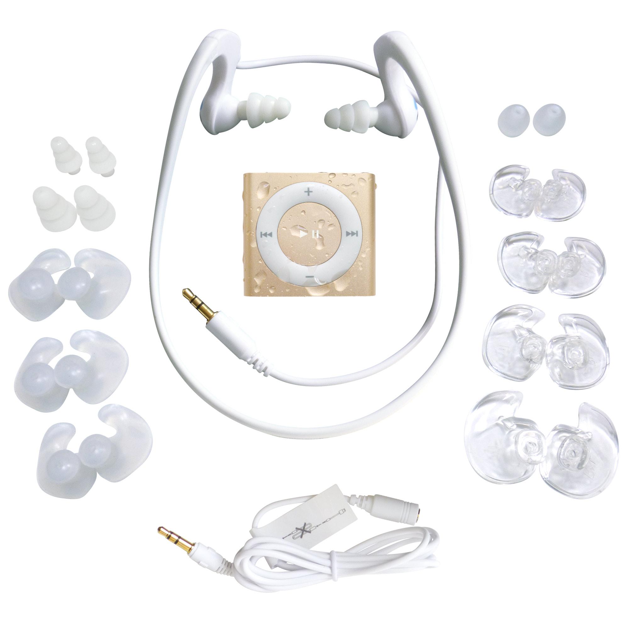 HydroActive Waterproof Headphones ; iPod Shuffle Bundle b...